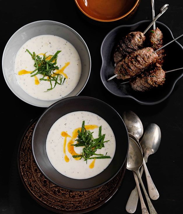 Grilled Corn Soup With Yogurt And Mint Recipes — Dishmaps