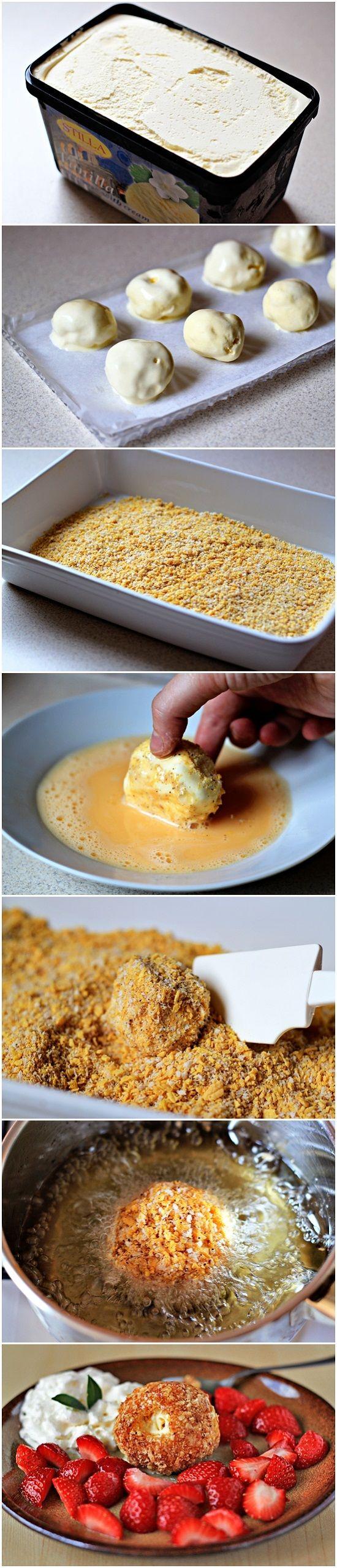 Fried Ice Cream | food | Pinterest