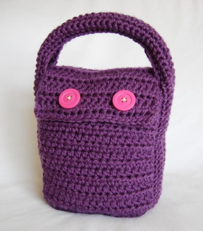 Crochet Lunch Bag : The Lunch Clutch pattern on Craftsy.com Crochet Pinterest