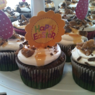Heath Bar Cupcakes Recipe — Dishmaps