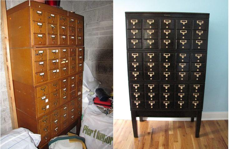 Card Catalog Library Furniture Pinterest