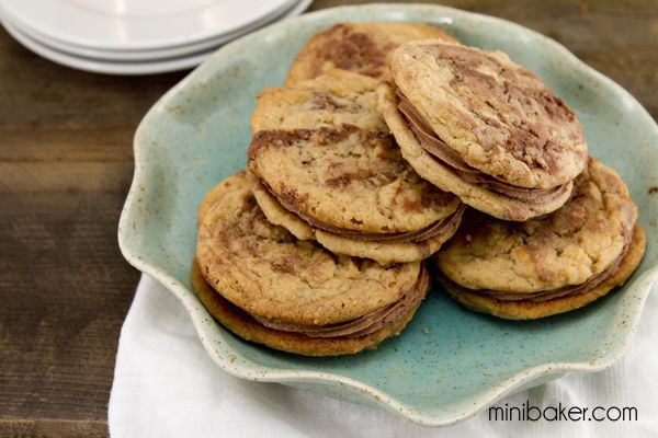 ... for Peanut Butter Nutella Sandwich Cookies with Milk Chocolate Filling