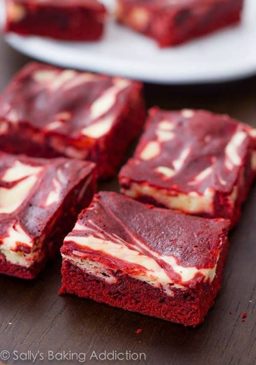 ... know why I am craving theses!!!!! Red Velvet Cheesecake Swirl Brownies