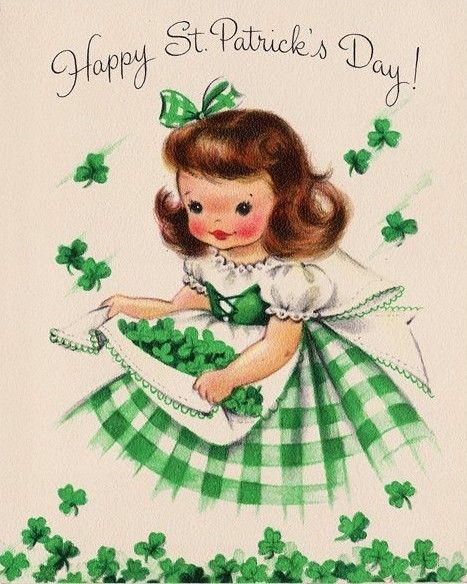 Vintage Saint Patricks Day card