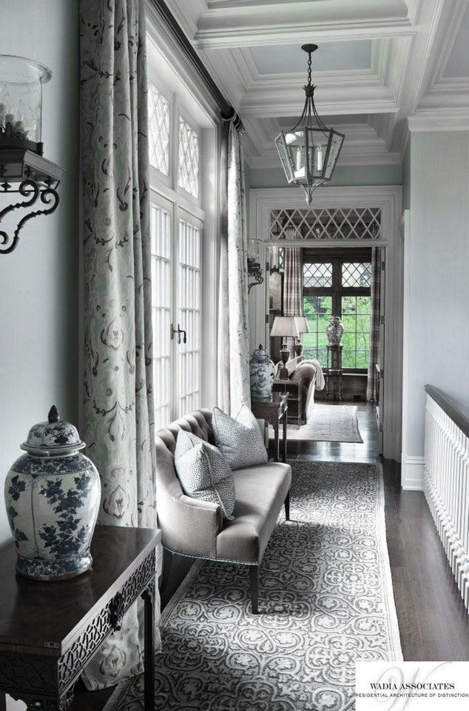 ♅ Dove Gray Home Decor ♅  gorgeous hallway