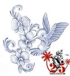 tattoo kolibri blumen by edel 3d design tattoo pinterest. Black Bedroom Furniture Sets. Home Design Ideas