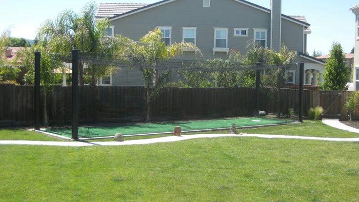 backyard batting cage sports pinterest