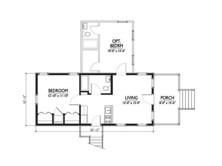 Katrina cottage plan by marianne cusato great floor for Katrina cottage floor plans