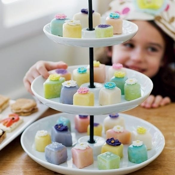 Mothers Day Treats. Petit four cakes are so easy to make and decorate ...