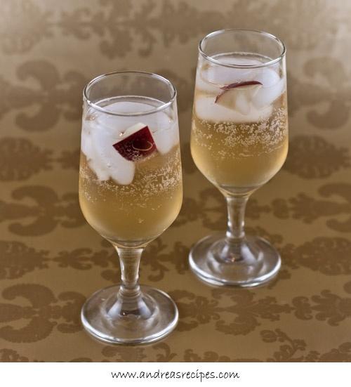 Sparkling Apple Cocktail (1 ounce apple juice 1/2 ounce cognac 1/2 ...
