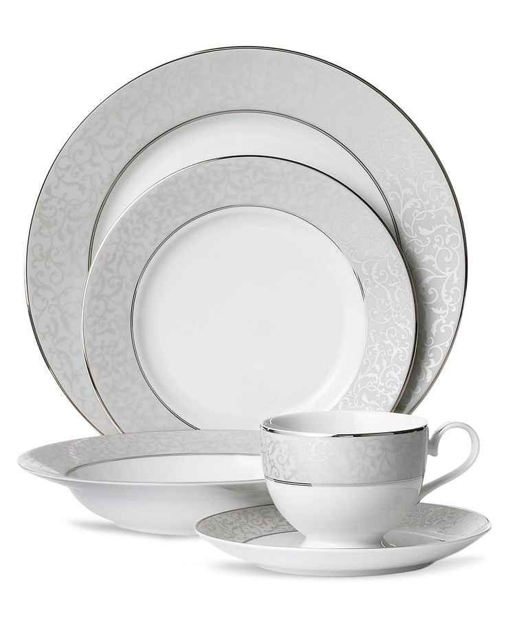 Mikasa parchment 5 piece place setting for Mikasa china