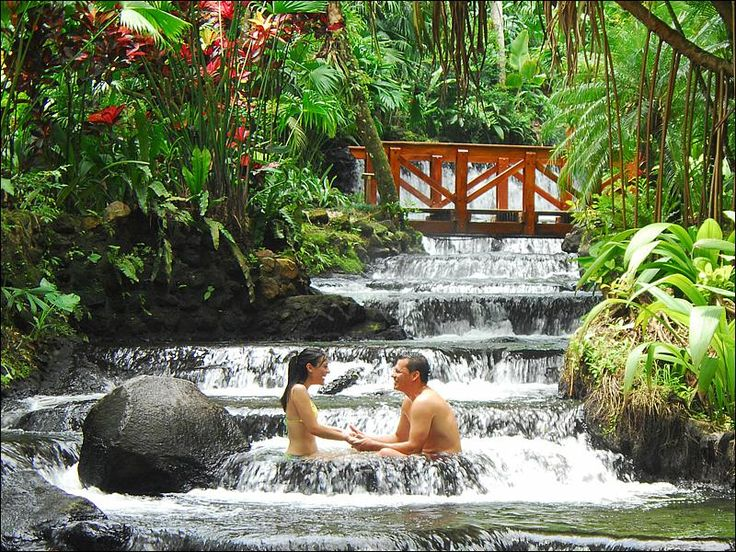 The Tabacon & Natural Hot Springs - Couple in a Costa Rica Honeymoon at Tabacon in Arenal