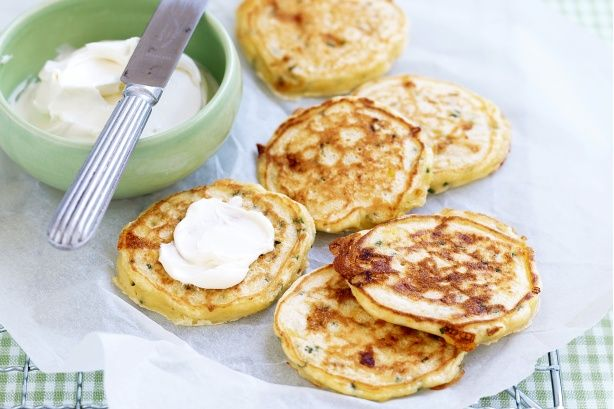 ... out' making these fantastic quick and easy corn and chive pikelets