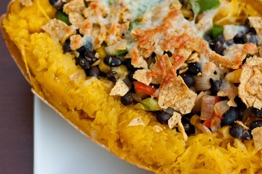 mexican stuffed spaghetti squash | Recipes to try | Pinterest