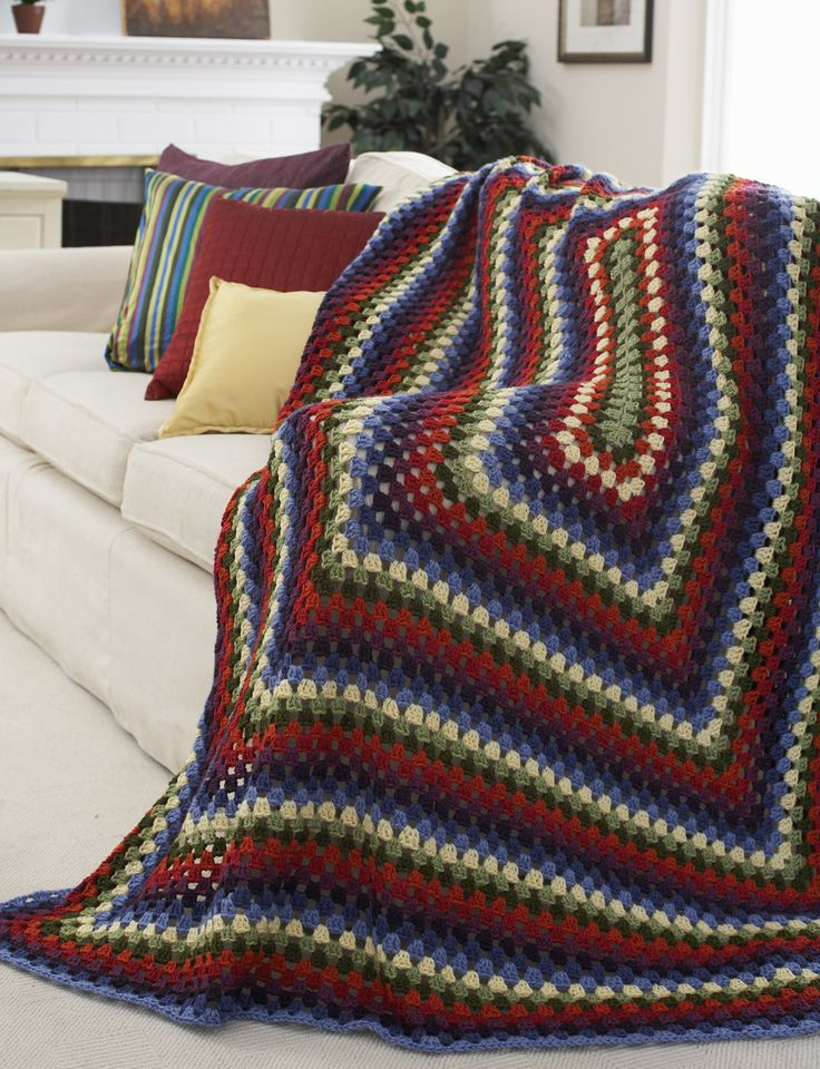 Decor - Stained Glass Window Afghan (crochet) Yarn ...