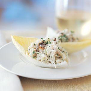 crab salad with endive (leave out the crème fraîche)