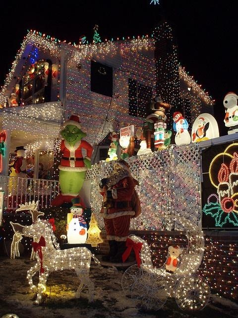Christmas lights, Queens, NYC | ::Winter & Holiday's:: | Pinterest
