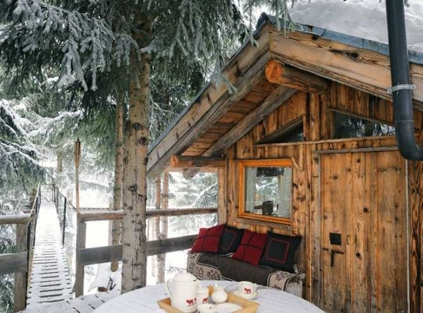 Stilts cabin favorite places spaces pinterest Log cabin homes on stilts