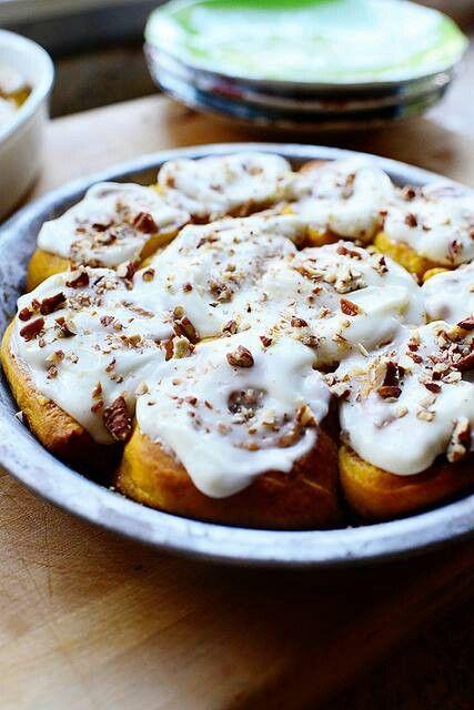 Pumpkin cinnamon rolls pioneer woman sweets pinterest
