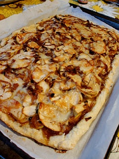 Savory Apple Tart with Caramelized Onions, Gruyere, and Sage - for ...