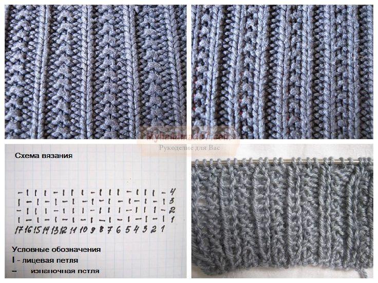 Вязание английской резинки спицами схема для начинающих с фото 42