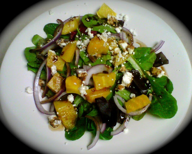 Roasted beet salad with candied walnuts an blue cheese | Favorite ...