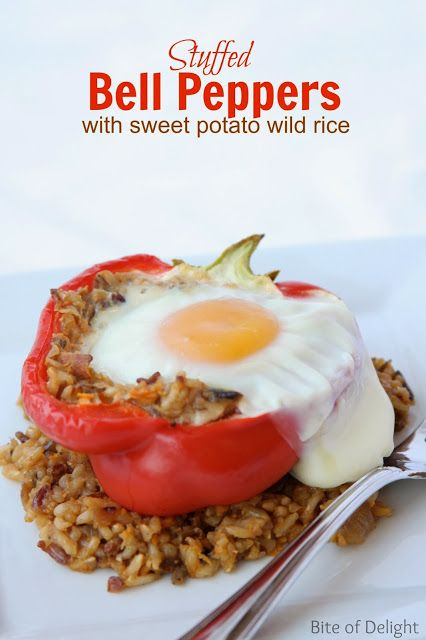 ... Peppers Our favorite stuffed pepper! The egg and wild rice are amazing