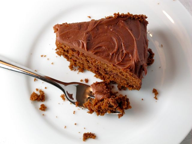 Old Fashioned Chocolate Layer Cake with Chocolate Sour Cream Frosting