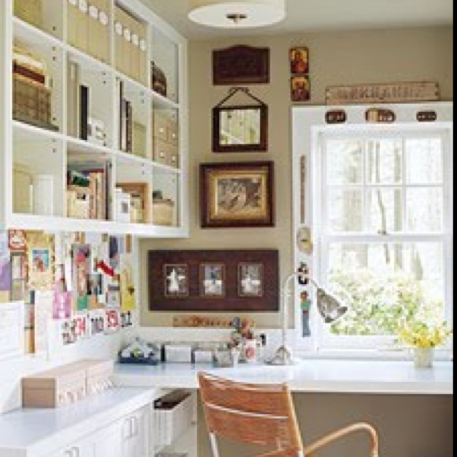 Home decorating pictures craft room layout - Ideas decoracion despacho ...