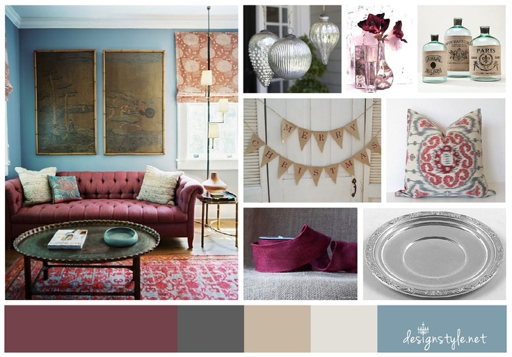 Burgundy and blue color scheme office decor ideas - Burgundy and blue color scheme ...