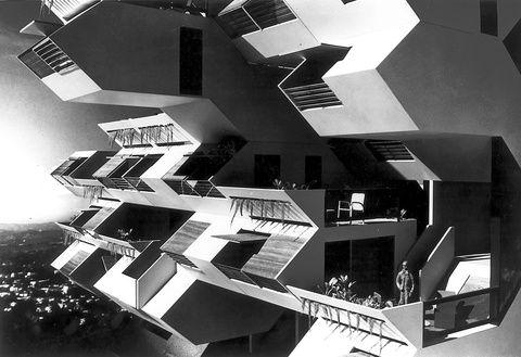 Habitat '67 building designed by Moshe Safdie