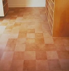 Leather Floor Tiles Great Warm Feel But Much Cleaner Than Carpet