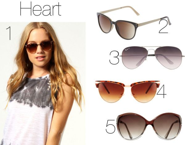 Eyeglass Frames Heart Shaped Face : Pin by Styled + Wired Blog on Polyvore Pinterest