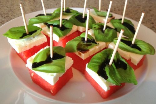 watermelon and feta cheese appetizer