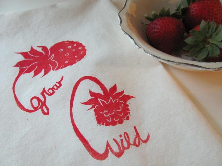 First Tattoo Grow Wild Strawberries Teatowel $1200 Via Etsy