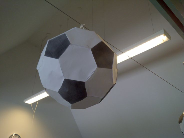 how to make a 3d football from paper