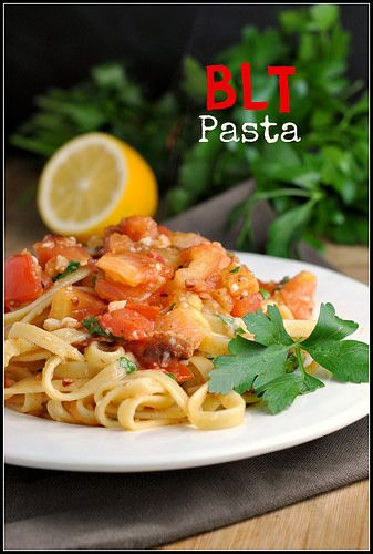 BLT Pasta   great food and recipes   Pinterest