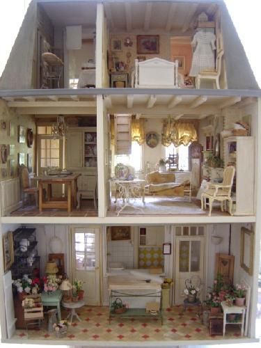French Miniature Interior Antique Vintage Dollhouses Pinterest