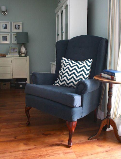 Wingback Chair Chevron Pillow Chevron Pinterest