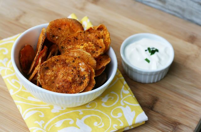 BAKED sweet potato chips #recipe. Crispy and delicious, straight from ...