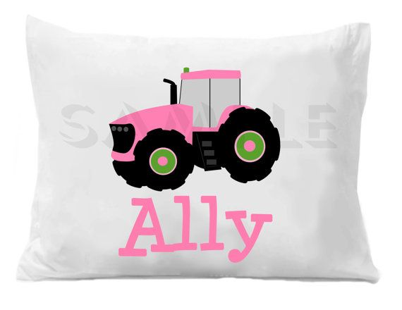 Tractor Personalized Pillow Case by TheTrendyButterfly on Etsy,