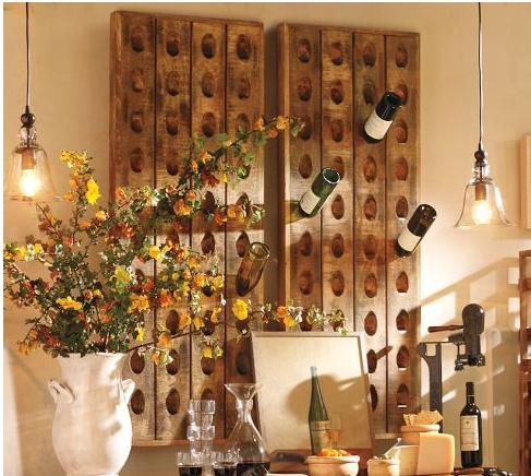 rustic wine racks from pottery barn dining room ideas. Black Bedroom Furniture Sets. Home Design Ideas