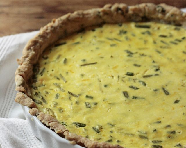 lemon ricotta tart with garlic scapes by reading my tea leaves, via ...