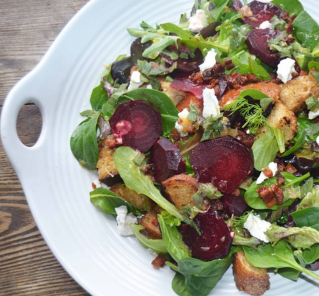 Winter Panzanella Salad | Not Just For Bunnies | Pinterest