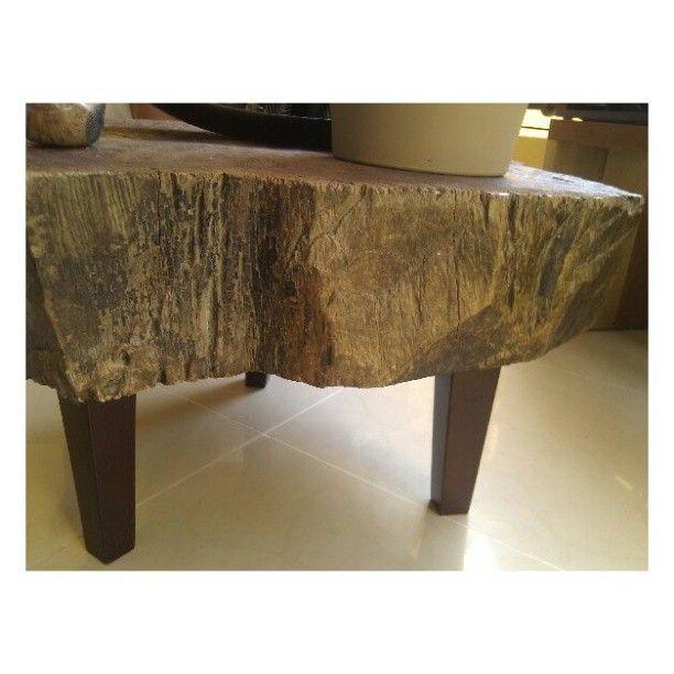 Raw Wood Coffee Table Rustic Reclaimed Wood Furniture