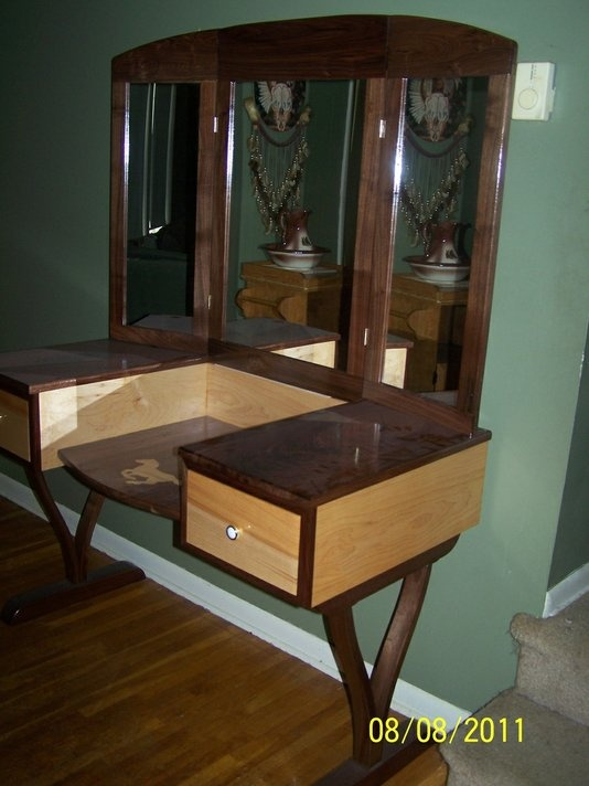 Walnut and maple remodel inspiration pinterest - Outstanding dressing table with mirror light arrounds ...