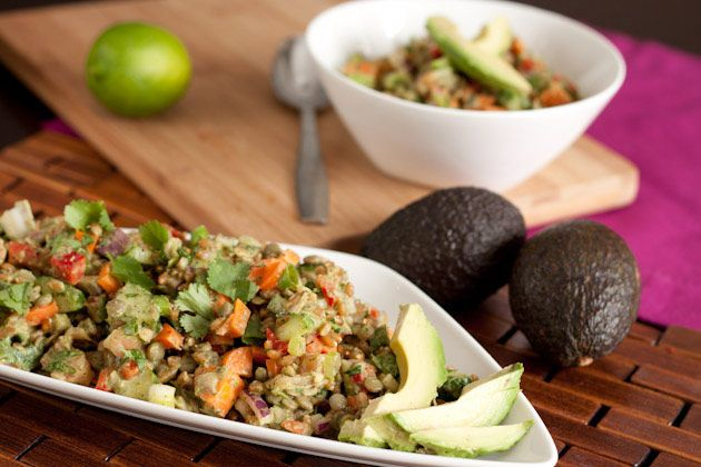 Refreshing Cilantro Lime Spelt Berry Salad