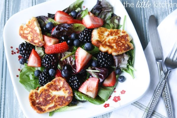triple berry salad with sugared almonds recipes dishmaps triple berry ...