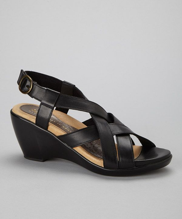 Love this 1803 Shoes Black Dawn Leather Sandal by 1803 Shoes on