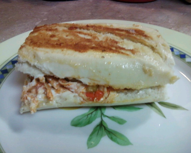buffalo chicken grilled cheese sandwich | My love of food | Pinterest